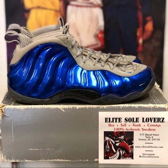 42d8c297eed6fe ... Nike foamposite royal blue wolf Grey 10.5 . ...